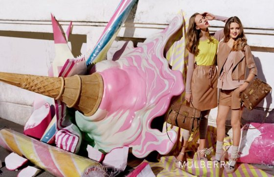 Mulberry, Spring 2012, photoshoot, bag, ice cream, candy