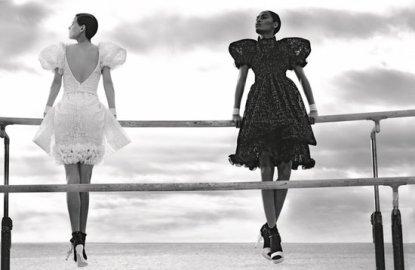 chanel, black, white, spring 2012