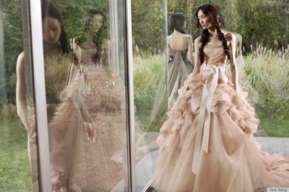 vera wang, spring 2012, dress, pink